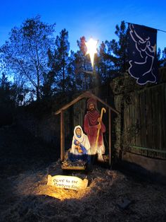 Outdoor nativity, Nativity and Plywood on Pinterest