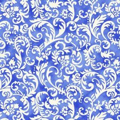 4764463641a1e Tricoline Arabesco Tk1646 Azul TECIDO TRICOLINE ESTAMPADO