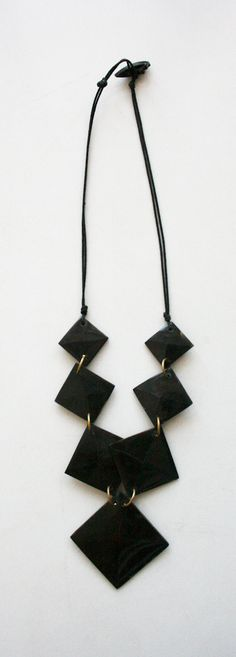 black squares necklace