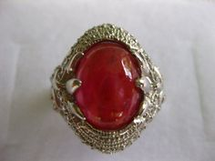 40.45 CT. (GEMS+SETTING)Natural Ruby Sterling 925 Sterling Silver Ring Size 9.25