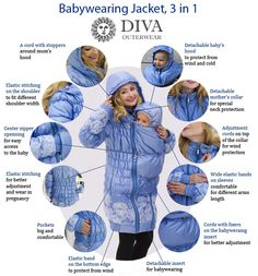 fb5187fa615e 41 Best Maternity and babywearing coats images