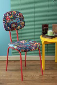 D.I.Y: Cadeira de Escritório com Roupa Nova