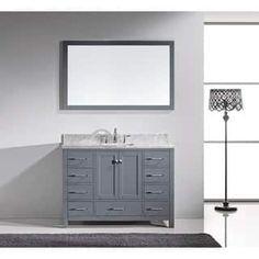Virtu USA Caroline Avenue 48-inch Grey Single Bathroom Vanity Cabinet Set
