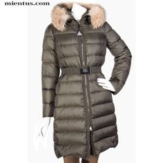MONCLER Down Fur Parka Fabrefox