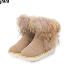 XiuNingYan Brand Women's Shoes Natural Rabbit Fur Fashion Snow Boots 2017 Winter Keep Warm Outside Shoes for Women Ankle Boots Mid Calf Boots, Knee High Boots, Ankle Boots, Ugg Boots, Shoe Boots, Women's Shoes, Fashionable Snow Boots, Snow Boots Women, Outdoor Woman