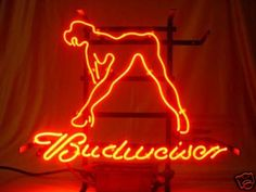 Vintage Budweiser Mirrors | BUDWEISER BUD LIGHT GIRL BEER BAR NEON SIGN me076 Completed