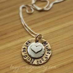Sterling silver and brass hand stamped by TagYoureItJewelry, $53.00