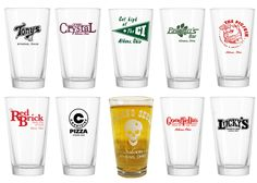 Shop Athens Ohio - *Ultimate Court Street Collection - Set of 10 Pint Glasses, $57.50 (http://shopathensohio.com/ultimate-court-street-collection-set-of-10-pint-glasses/)