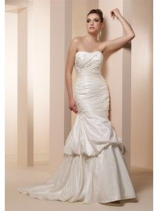 strapless trumpet wedding dresses