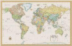 $20 Rand Mcnally World Map (Classic Edition World Wall Map): Rand McNally and Company: 0070609934761: Amazon.com: Books
