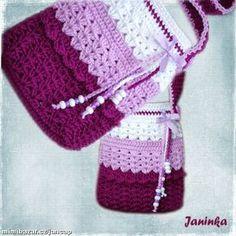Háčkovaná kabelka pre malé slečny Camilla, Crochet Bikini, Bikinis, Swimwear, Purses And Bags, Crochet Hats, Fashion, Crochet Pouch, Craft