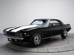 The 1969 Chevrolet Camaro, easily recognizable by its famous stripes, is a car before its time, mixing luxury with power. Luxury options available to add on in 1969 included: 4 wheel disc brakes, AM/FM Radio, a three-speed transmission, and a cowl-induction hood.The cowl-induction hood was available on the 1969 Z28; the hood included a valve will allowed cool air to enter through the bottom of the windshield.