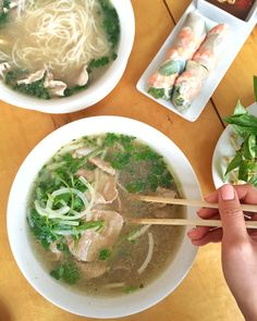 """#dineLA on Instagram: """"A Pho Tai from @blossomrestaurant is just what you need right now. Now you can get your fix at their newest location in #Chinatown. #blossomrestaurant #dtla #dineLA 
