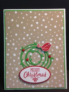 Swirly Bird, Hang Your Stocking, Stampin' Up!, Christmas Card, Rubber Stamping, Handmade Cards