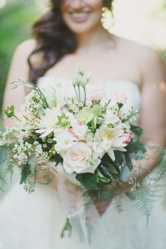 peony and garden rose bouquet, photo from By the Robinsons http://ruffledblog.com/sunken-gardens-florida-wedding #flowers #weddingbouquet #bouquets