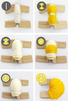 Pom Pom Fruit Tutorial - how fun! Pom Pom Crafts, Yarn Crafts, Diy And Crafts, Crafts For Kids, Arts And Crafts, Pom Pom Diy, Pom Pom Garland, Diy Projects To Try, Craft Projects