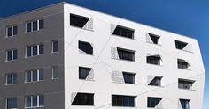PORCELANOSA Grupo Projects: facciata ventilata e frangisole di KRION® nell'Edificio Le Crysto, a Rennes