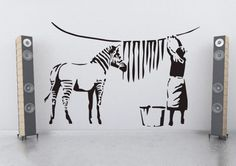 Another #Banksy how would this one look #streetart #graffiti #decoration www.banksywallstickers.com