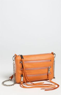 Rebecca Minkoff '5 Zip - Mini' Crossbody Bag available at #Nordstrom    in mint or sand  $198