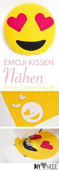 Emoji Kissen nähen (Freebie) / Kostenlose Vorlage / Nähen für Kinder