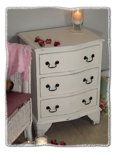 Small Chest of Shabby Drawers www.chicmouldings.com