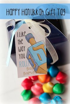 Free Happy Hanukkah Gift Tag
