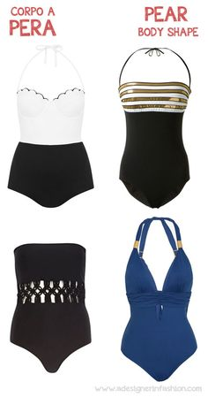 Perfect one piece swimsuit for pear body shape