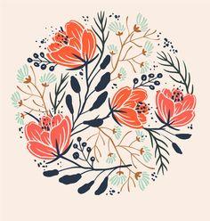 Florals by Anna Aniskina, via Behance