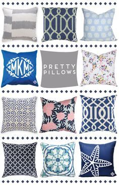 Throw pillows.They just never get old. #blue