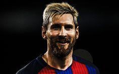 壁紙をダウンロードする Lionel Messi, 笑顔, サッカー星, FCバルセロナ, サッカー, レオMessi