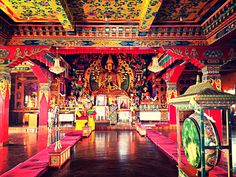 Beautiful colors at Kopan Monastery - Nepal