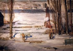 A Morning Snow Hudson River, George Bellows, 1910