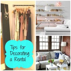 Tips for decorating your apartment, rental home or dorm room on a budget. Find great affordable products for your apartment at http://www.myknobs.com