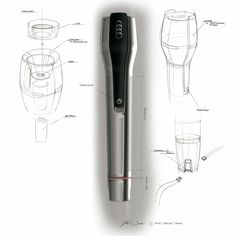 Audi Q3 Vail Flashlight Design Sketch