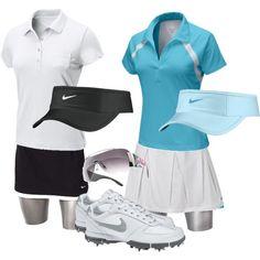 Cute Golf gear, created by preppedandready on Polyvore