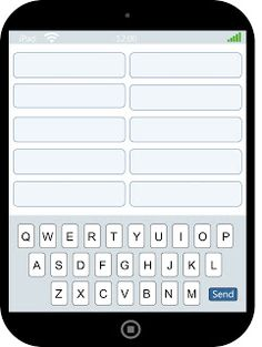 "iPad Spelling - write spelling words on top and ""text"" them at the bottom."