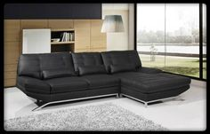 #ambfurniture.com         #sofa                     #A.M.B. #Furniture #Design #Living #room #furniture #Sofas #Sets #Leather #sectionals #Black #bonded #leather #upholstered #modern #style #sectional #sofa #with #chrome #trim #legs #with #tufted #design      A.M.B. Furniture & Design :: Living room furniture :: Sofas and Sets :: Leather sectionals :: 2 pc Black bonded leather upholstered modern style sectional sofa with chrome trim and legs with tufted design…