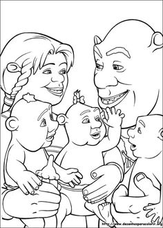 shrek 3 36 coloring page for kids and adults from cartoons coloring pages shrek the third coloring pages - Realistic Chipmunk Coloring Pages