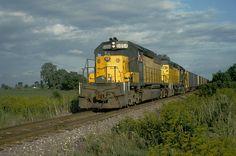 Chicago Northwestern Railroad coal train at Buda, IL