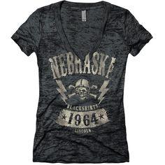 Nebraska Womens Blackshirts Fashion Tee Shirt