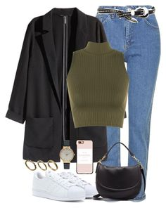 """""""Untitled #1009"""" by ohsnapitzblanca ❤ liked on Polyvore featuring Topshop, H&M, WearAll, adidas Originals, Mulberry, Casetify, Olivia Burton, Made and B-Low the Belt"""