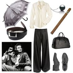 I've been making so many fussy femme sets lately, I thought it was high time for some hot butch action -- but classy, vintage, Katharine Hepburn style butch, no. Katharine Hepburn, Audrey Hepburn, Classic Style Women, Classic Chic, Minimal Classic, Barry Manilow, Style Icons Inspiration, Fashion Looks, Fashion Tips