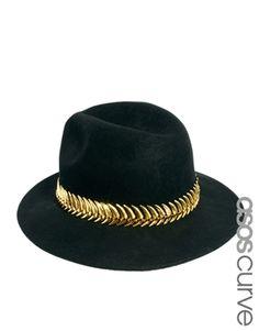 Image 1 ofASOS CURVEMetal Band Fedora Hat