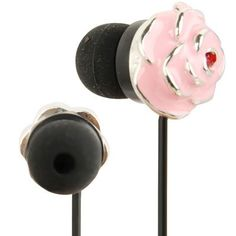 Schattige in-ear oordopjes in de vorm van een roze roos