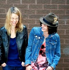 … because their off-screen friendship is even more perfect. | Leisha Hailey And Kate Moennig's Friendship Is A Thing Of Beauty