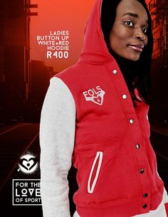Ladies' Button-up Red & Grey Tracksuit 2015 Winter, Red Hoodie, Red And Grey, Button Up, Range, Hoodies, Lady, Jackets, Fashion