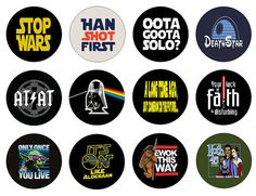 STAR WARS HUMOR Set of Pinback Buttons or Button by GalaxyofGoods, $5.99