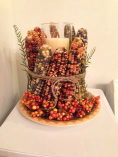 Indian corn center piece