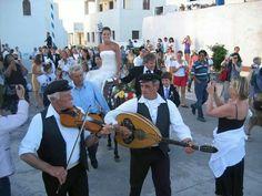 Traditional Greek island wedding!