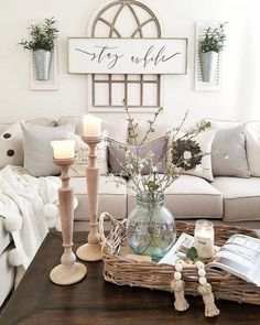 The rustic living room wall decor is indeed very eye-catching as well as lovely. Right here is a collection of rustic living room wall decor. Home Living Room, Living Room Designs, Living Room Wall Decor Diy, Shabby Chic Living Room Decor, Living Room Decorations, Coffee Table Decor Living Room, Romantic Living Room, Sconces Living Room, Living Room Themes